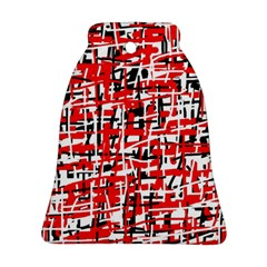 Red, white and black pattern Bell Ornament (2 Sides)