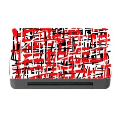 Red, white and black pattern Memory Card Reader with CF
