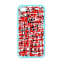 Red, white and black pattern Apple iPhone 4 Case (Color)