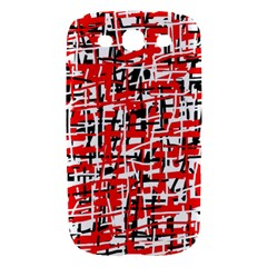Red, white and black pattern Samsung Galaxy S III Hardshell Case