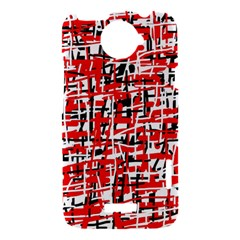 Red, white and black pattern HTC One X Hardshell Case