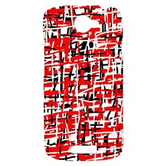 Red, white and black pattern HTC One S Hardshell Case