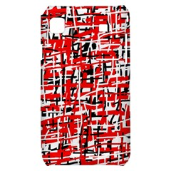Red, white and black pattern Samsung Galaxy S i9000 Hardshell Case