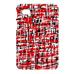 Red, white and black pattern Samsung Galaxy Tab 7  P1000 Hardshell Case