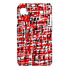 Red, white and black pattern Samsung Galaxy S i9008 Hardshell Case