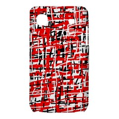 Red, white and black pattern Samsung Galaxy SL i9003 Hardshell Case