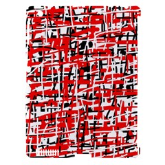 Red, white and black pattern Apple iPad 3/4 Hardshell Case (Compatible with Smart Cover)