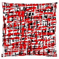 Red, white and black pattern Large Cushion Case (Two Sides)