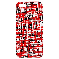 Red, white and black pattern Apple iPhone 5 Hardshell Case