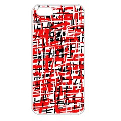 Red, white and black pattern Apple iPhone 5 Seamless Case (White)