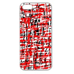 Red, white and black pattern Apple Seamless iPhone 5 Case (Clear)