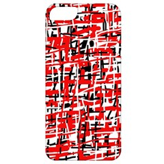 Red, white and black pattern Apple iPhone 5 Classic Hardshell Case