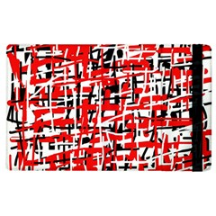 Red, white and black pattern Apple iPad 3/4 Flip Case