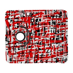 Red, white and black pattern Samsung Galaxy S  III Flip 360 Case