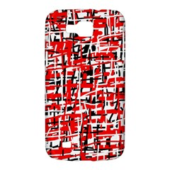 Red, white and black pattern Samsung Galaxy Premier I9260 Hardshell Case