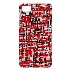 Red, white and black pattern BlackBerry Z10