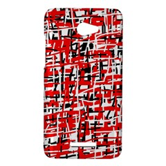 Red, white and black pattern HTC Butterfly X920E Hardshell Case