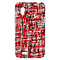 Red, white and black pattern HTC Desire VT (T328T) Hardshell Case