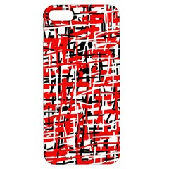 Red, white and black pattern Apple iPhone 5 Hardshell Case with Stand