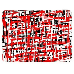 Red, white and black pattern Samsung Galaxy Tab 7  P1000 Flip Case