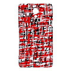 Red, white and black pattern Sony Xperia T