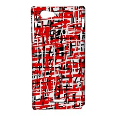Red, white and black pattern Sony Xperia J