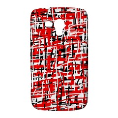 Red, white and black pattern Samsung Galaxy Duos I8262 Hardshell Case
