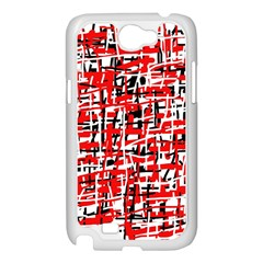 Red, white and black pattern Samsung Galaxy Note 2 Case (White)