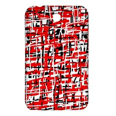 Red, white and black pattern Samsung Galaxy Tab 3 (7 ) P3200 Hardshell Case