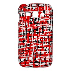 Red, white and black pattern Samsung Galaxy Ace 3 S7272 Hardshell Case