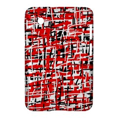 Red, white and black pattern Samsung Galaxy Tab 2 (7 ) P3100 Hardshell Case