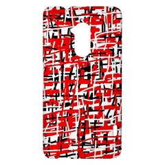 Red, white and black pattern HTC One Max (T6) Hardshell Case
