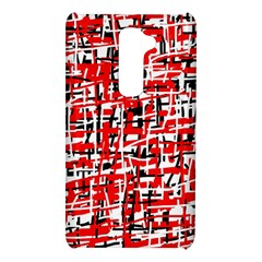 Red, white and black pattern LG G2