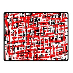 Red, white and black pattern Double Sided Fleece Blanket (Small)