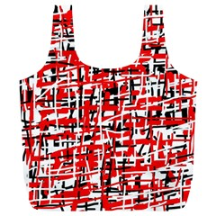 Red, white and black pattern Full Print Recycle Bags (L)