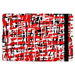 Red, white and black pattern iPad Air Flip