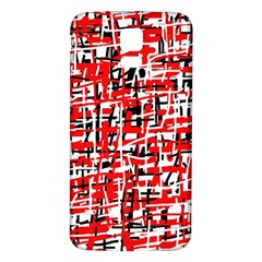 Red, white and black pattern Samsung Galaxy S5 Back Case (White)
