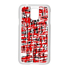 Red, white and black pattern Samsung Galaxy S5 Case (White)