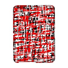 Red, white and black pattern Amazon Kindle Fire (2012) Hardshell Case