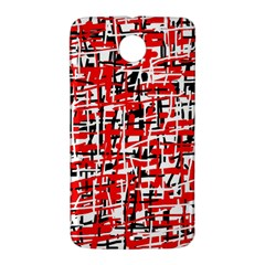 Red, white and black pattern Nexus 6 Case (White)