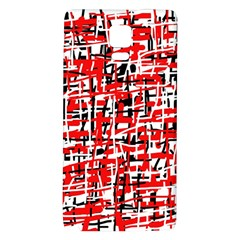 Red, white and black pattern Galaxy Note 4 Back Case