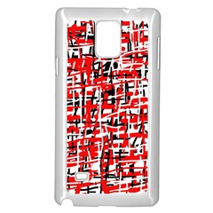 Red, white and black pattern Samsung Galaxy Note 4 Case (White)