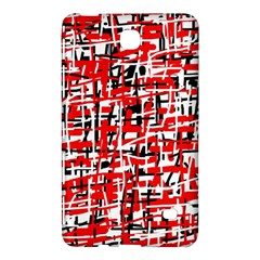 Red, white and black pattern Samsung Galaxy Tab 4 (7 ) Hardshell Case