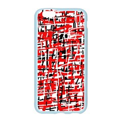 Red, white and black pattern Apple Seamless iPhone 6/6S Case (Color)