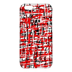 Red, white and black pattern iPhone 6/6S TPU Case