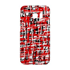 Red, white and black pattern Galaxy S6 Edge