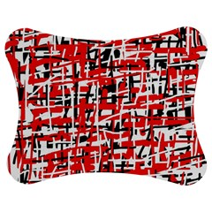 Red, white and black pattern Jigsaw Puzzle Photo Stand (Bow)
