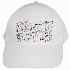red, white and black pattern White Cap