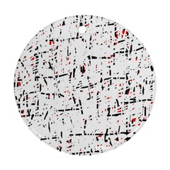 red, white and black pattern Ornament (Round)