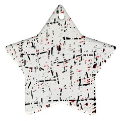 red, white and black pattern Ornament (Star)